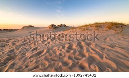 Poland desert in Slowinsky Park Narodowy Zdjęcia stock ©
