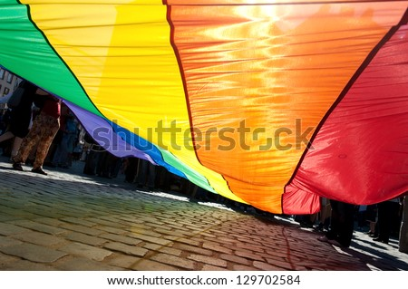 Poland, Gay Pride, Rainbow banner