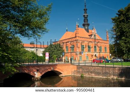 Poland - Gdansk city (also know nas Danzig) in Pomerania region. Old Town Hall.