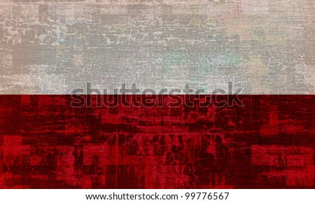 Poland grunge flag background