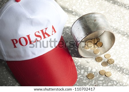 Poland situation poverty misery and hunger concept