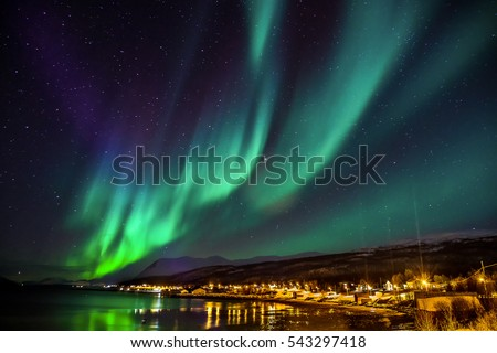 Polar lights in Norway #543297418