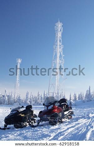 Polar station in Siberia