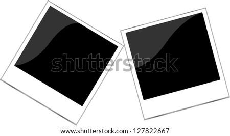 Polaroid photo frame set isolated on white, raster