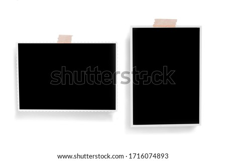 Polaroid photo frames. Square frame template with shadows isolated on transparent background. Stock foto ©