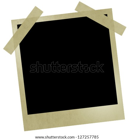 Polaroid style photo frames. Isolated on white background