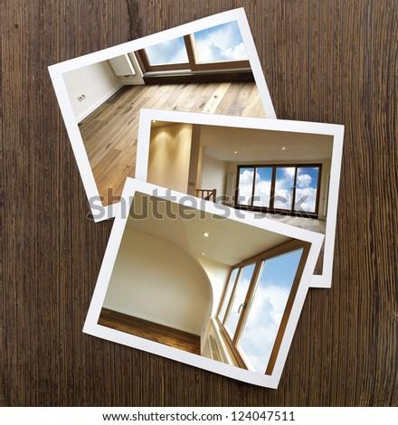 Polaroid-Wooden Floor and windows Boards