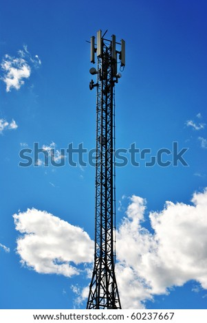pole for digital broadcasting mobile radio tv