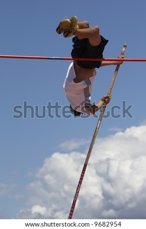 Pole Vault young man