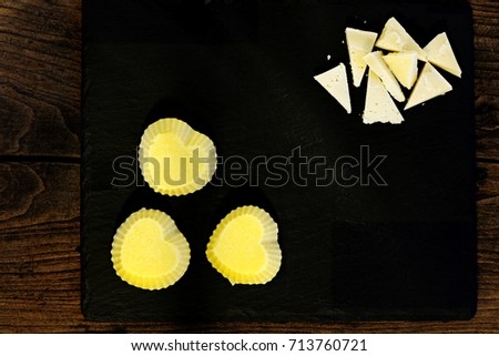 polenta and seasoned cheese #713760721