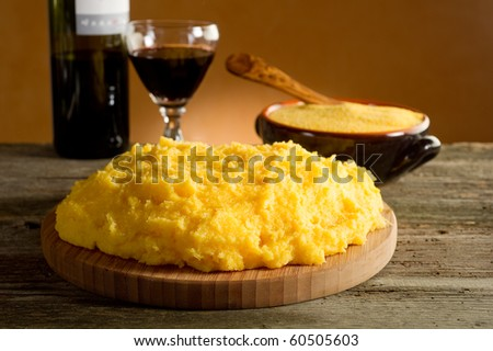 polenta with red wine