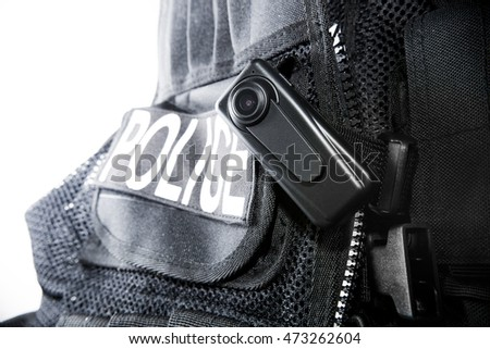 Police Body Camera on Tactical vest for law enforcement officers