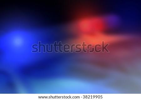 Police car light bar background in motion