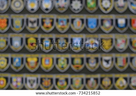 police chevrons in blur background #734215852