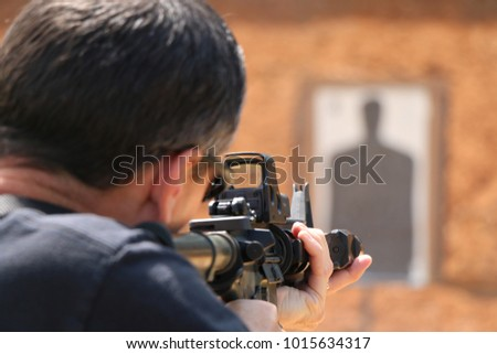 Photo of  Police firearms training