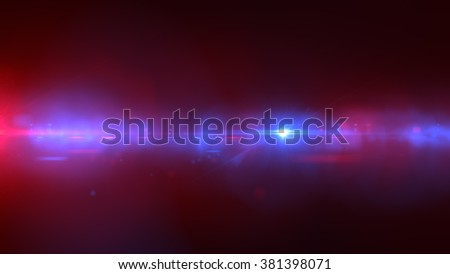 police light flares. luminous background