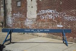 Police line barrier