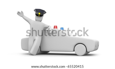 Police man with car