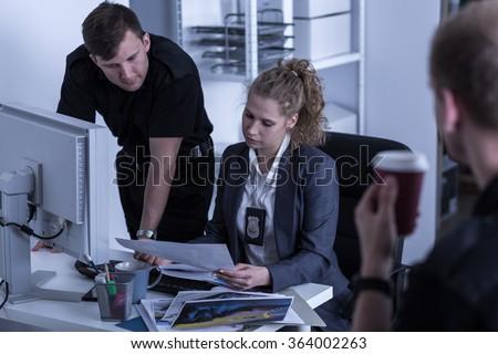 Police officers working at criminal investigation department