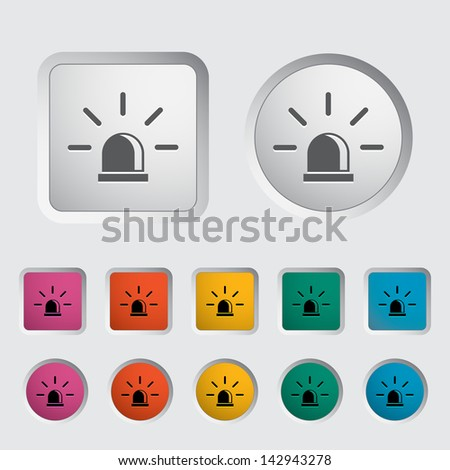 Police single icon. Vector version also available in my portfolio.