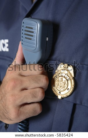Police uniform detail