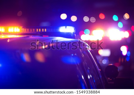 Police units responds to the scene of an emergency.