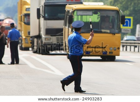 policeman on the road 1
