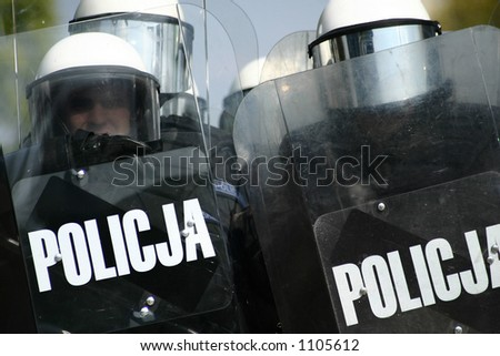 policmen during the riot.