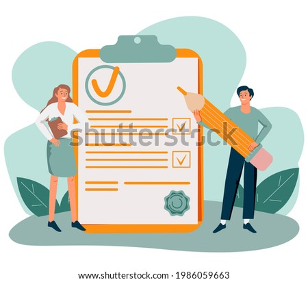 Policy as legal principles statement with text protocol tiny person concept. Procedure regulation document with security and risks administration illustration. Privacy data protection banner. Foto stock ©
