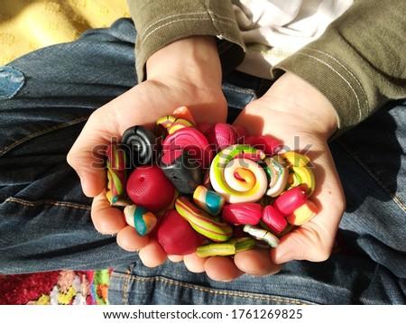 Polimer clay bonbon and candies Zdjęcia stock ©