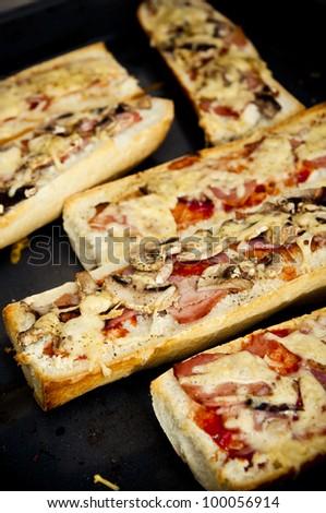 """Polish grill sandwich - """"zapiekanka"""" - stock photo"""