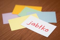 Polish; Learning New Language with the Flaish Card (Translation; Apple)