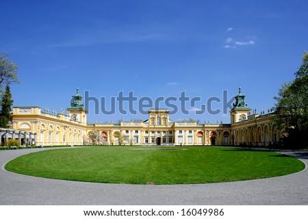 Polish palace Wilanow in Warsaw. Seat of king John III Sobieski.