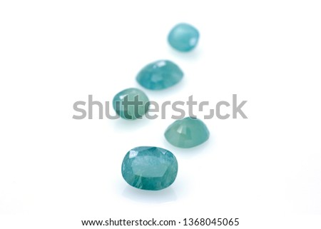 Polished gems of precious grandidierita. Strange stone. Jewels and gems #1368045065