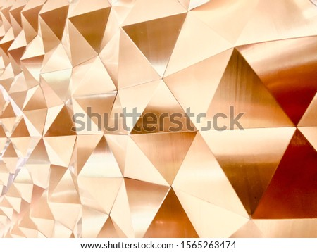 Polished metal can make a superior finish. The colorful reflection on its surface gives a clean, bright, shiny and creates different dimensions. Selective focus.