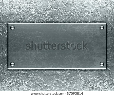 Polished metal plate steel background