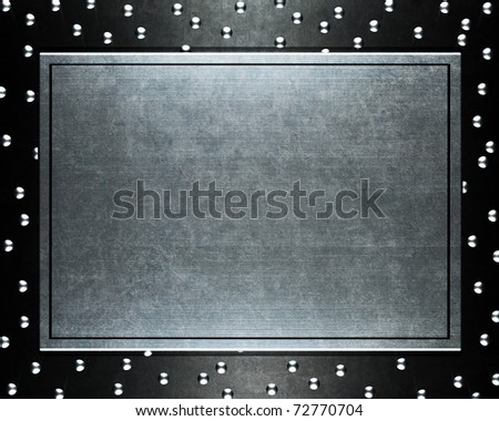 Polished metal plate steel background