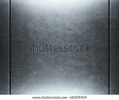 Polished metal surface.