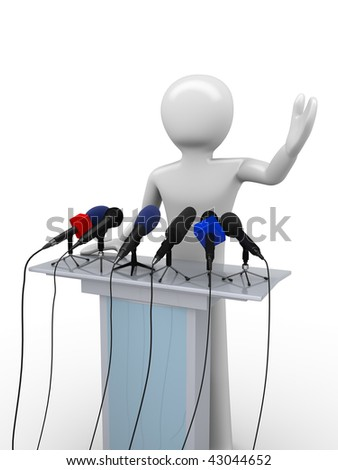 Political leader on a tribune (mass media series)