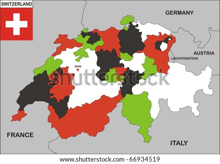 Map+of+switzerland+