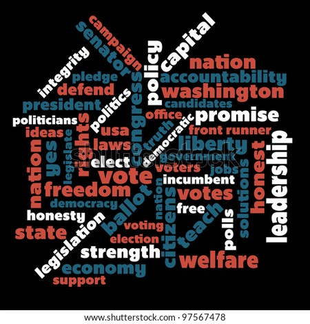 Political themed word graphic
