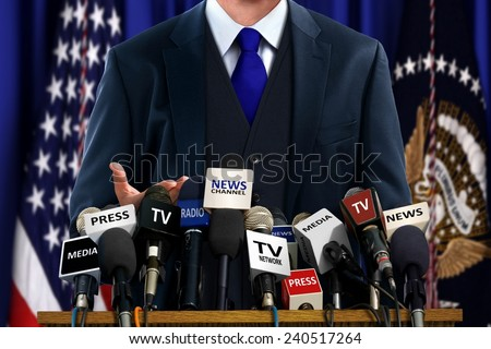 Shutterstock Politician at Press Conference