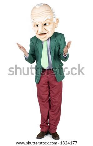 Politician standing