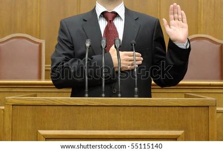 politician taking the oath