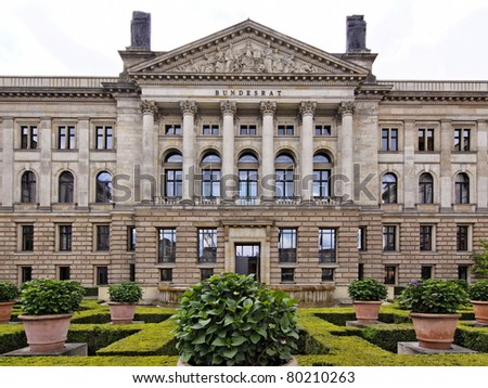 Politicians building in Berlin Germany (Bundesrat)