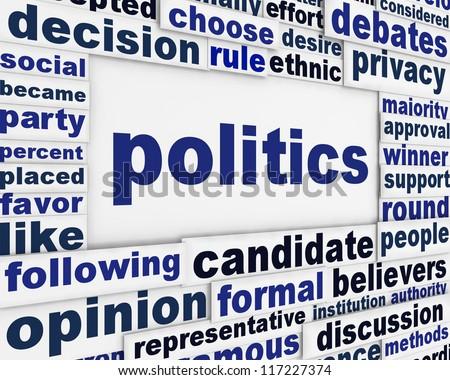 Politics poster design. Political message background concept