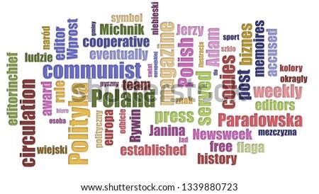 Polityka Tagcloud Mixed On White Background Zdjęcia stock ©