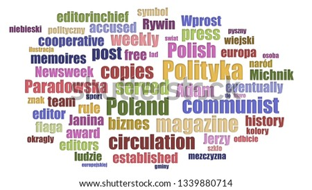 Polityka Word Cloud Neatly Isolated Zdjęcia stock ©