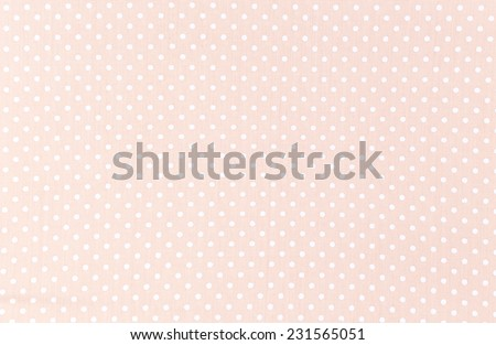 Photo of  Polka dot fabric background and texture