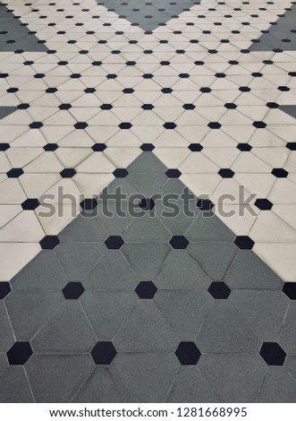 Polka Dot pattern background. Polka dot pattern and style on the floor. -image #1281668995